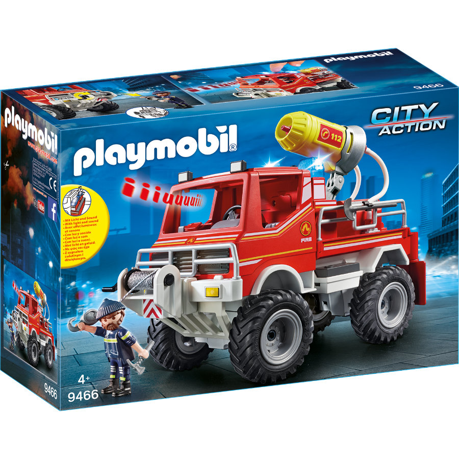 PLAYMOBIL® CITY ACTION 4x4 de pompier à lance 9466