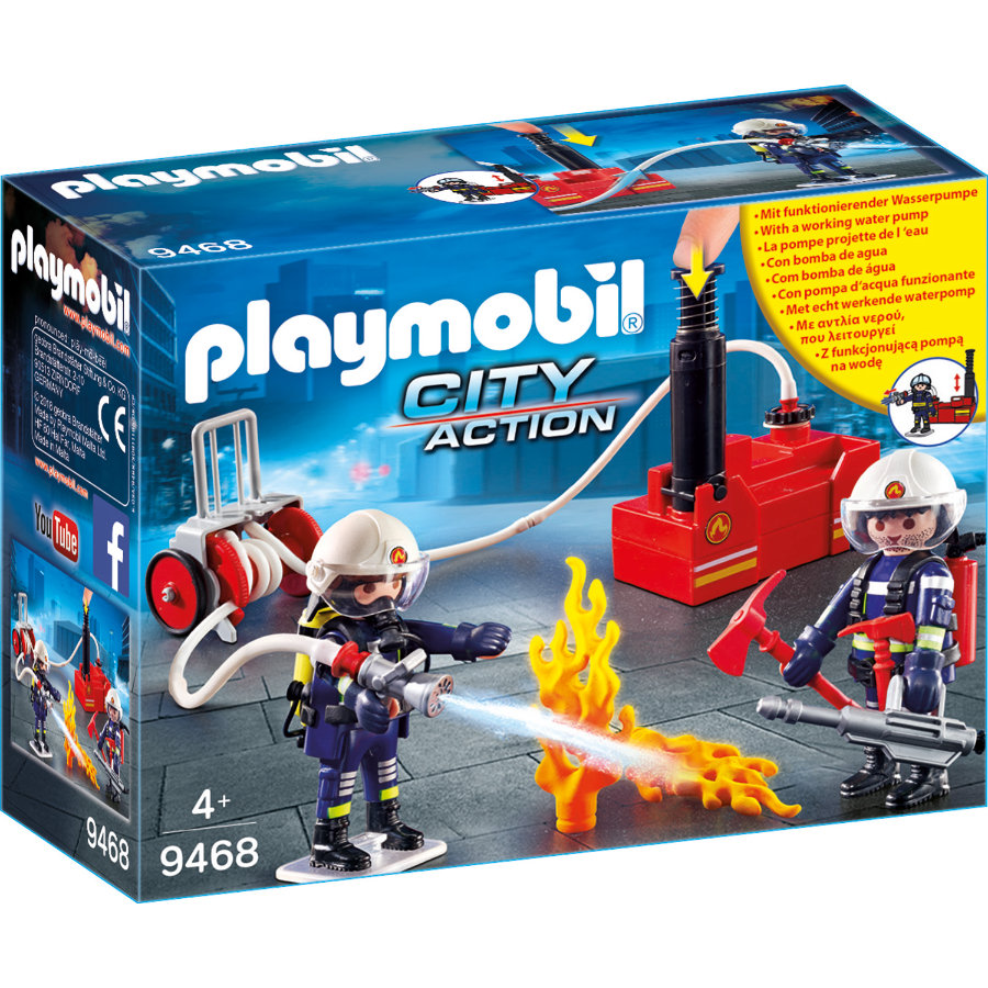 PLAYMOBIL® City Action Bomberos con bomba contra incendios 9468