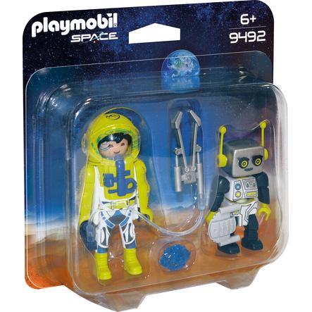 PLAYMOBIL® Duo Spationaute et robot 9492