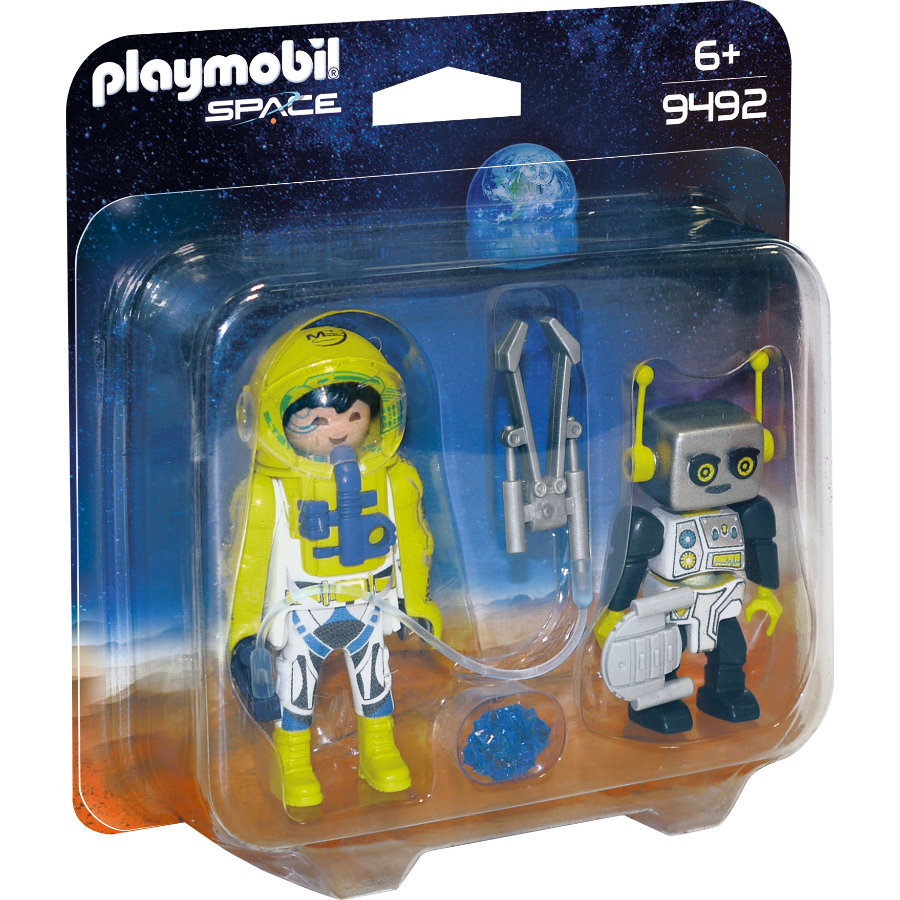 PLAYMOBIL® Space Duo Pack Astronaut und Roboter 9492