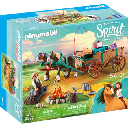 PLAYMOBIL® Spirit Riding Free Tata Jim z dorożką