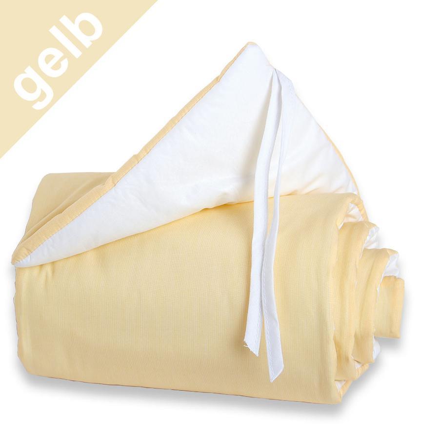 TOBI BABYBAY Protector de cuna Midi/Mini amarillo/blanco