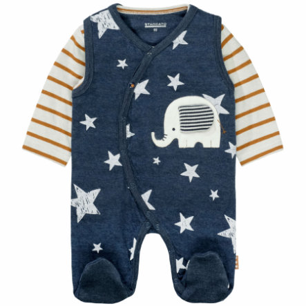 STACCATO Boys Strampler Set dark jeans melange Alloverprint