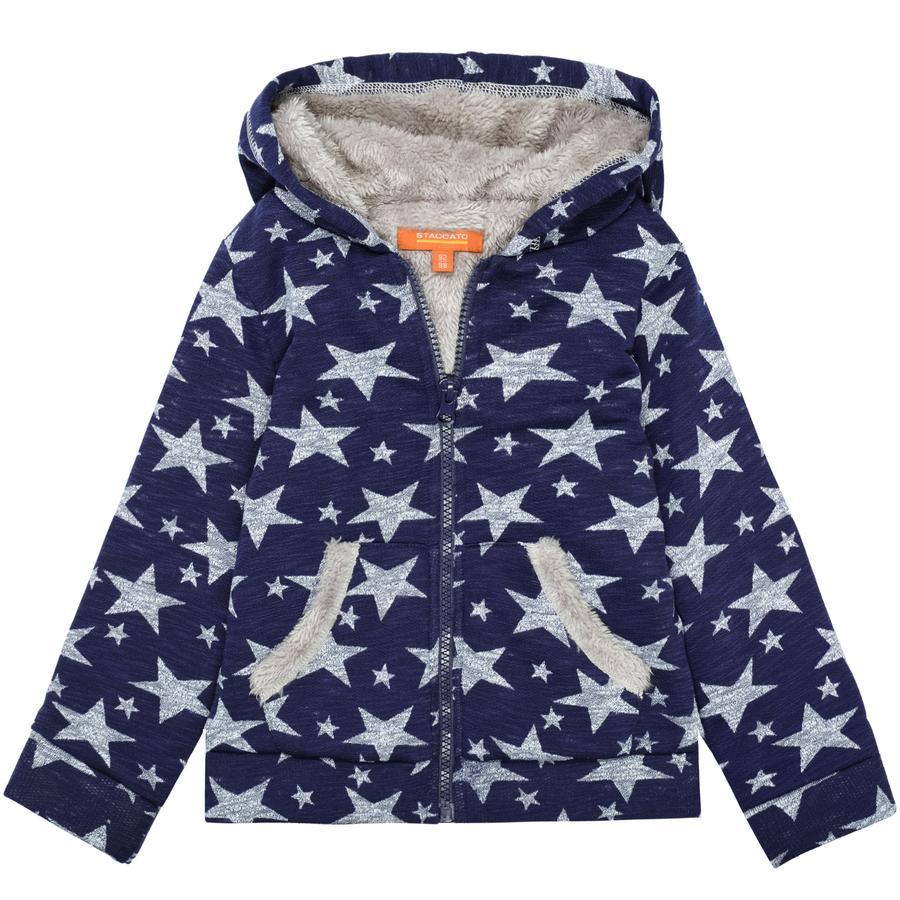 STACCATO Girl s sudore giacca di sudore blu scuro stelle