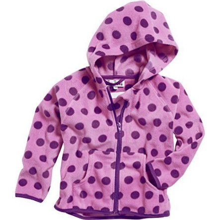 Playshoes Fleece-Jacke Punkte flieder