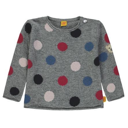 Steiff Pullover enfant cachemire/coton gris
