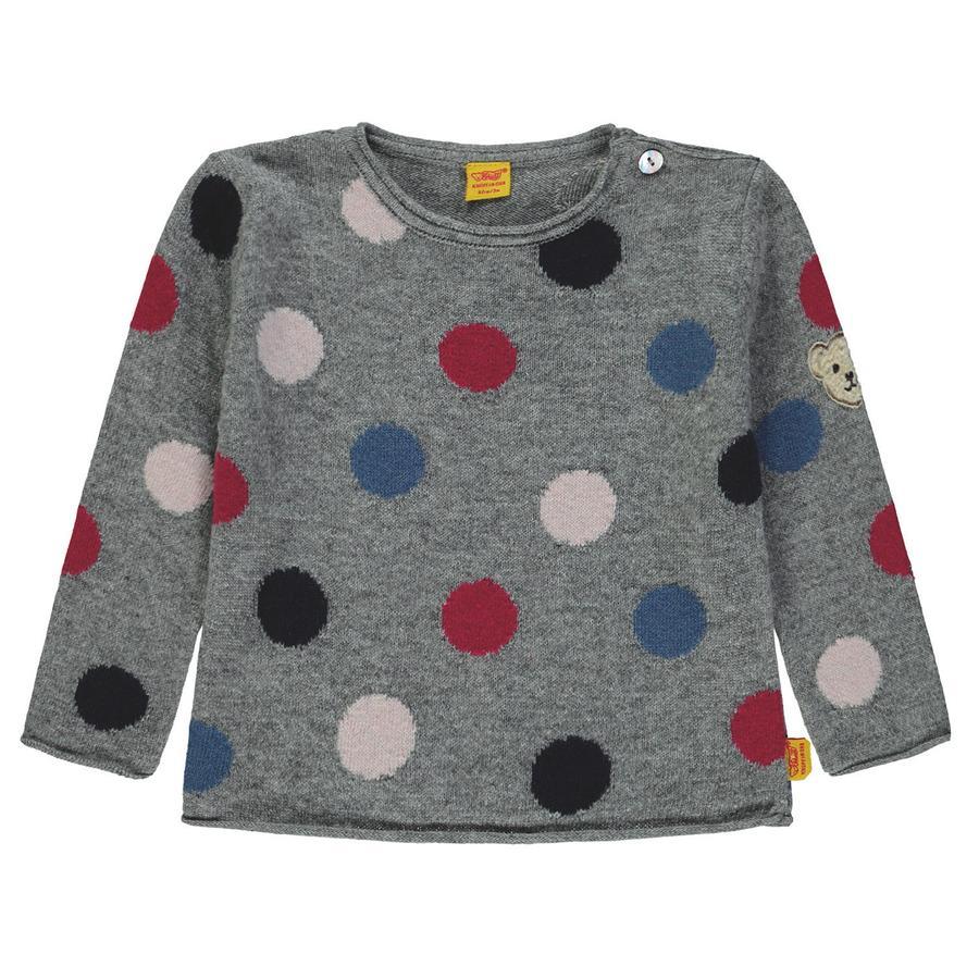 Steiff Girls Langærmet shirt, grå