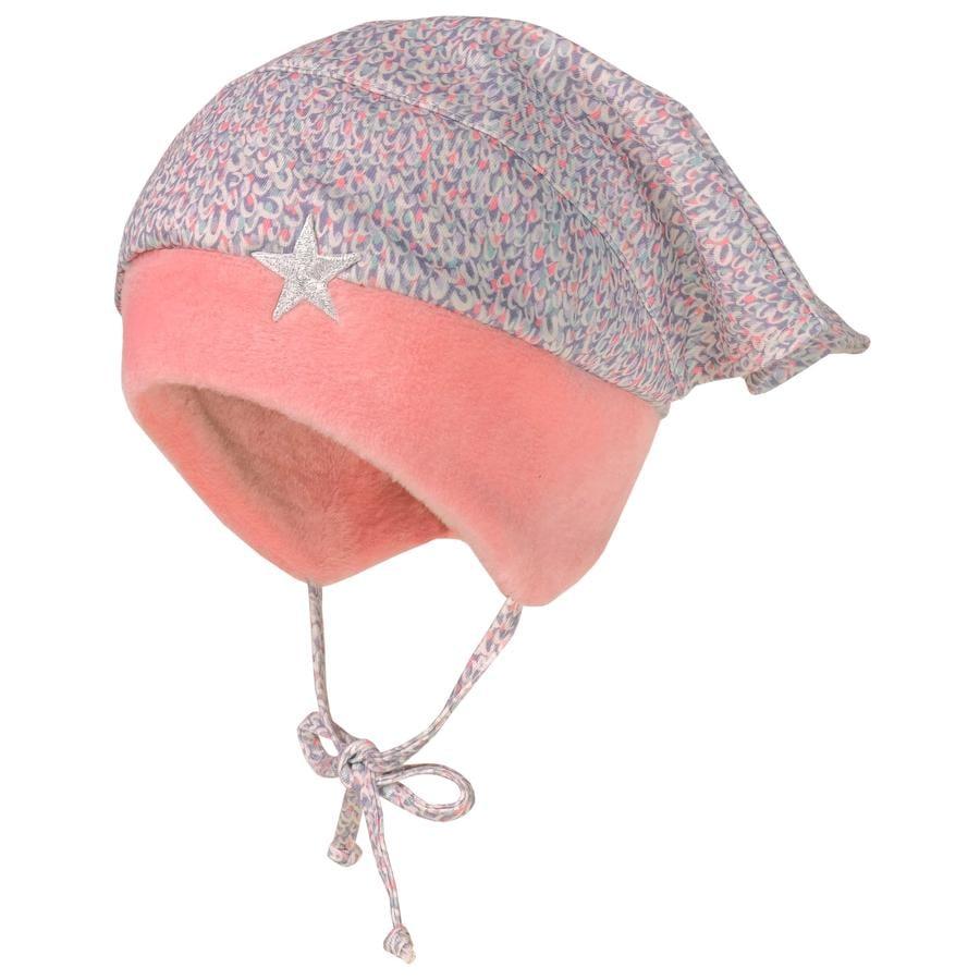 maximo Girls Kopftuchmütze wüstenrose-krokus-wollweiss