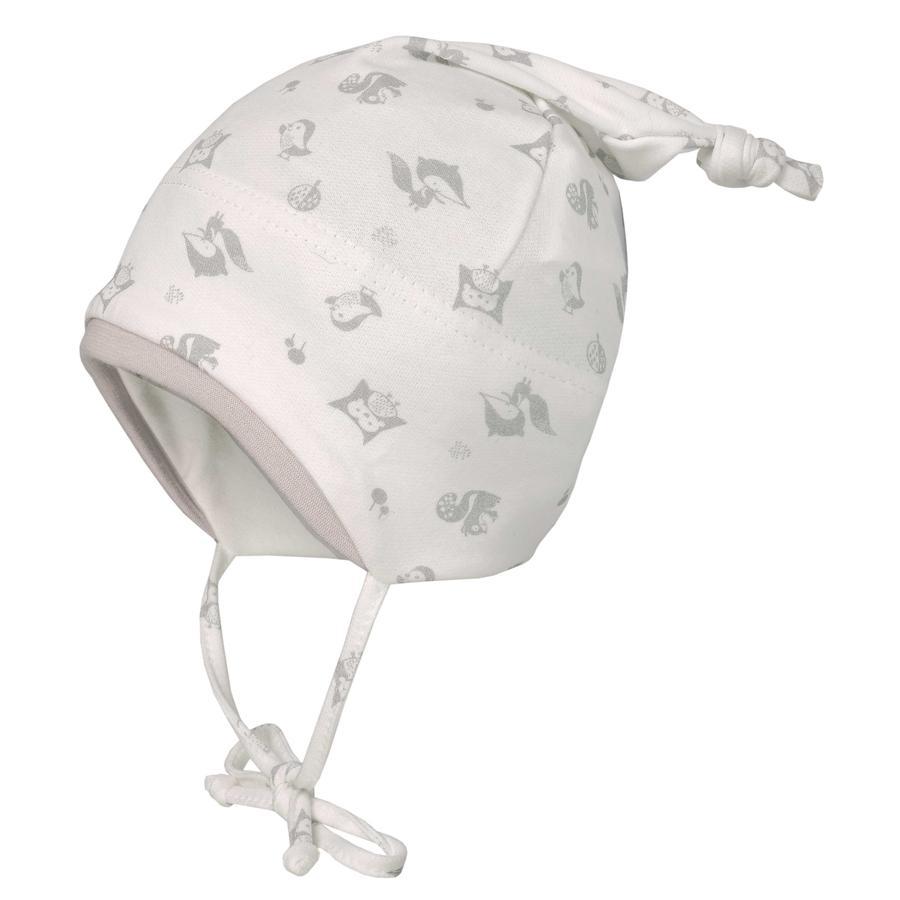 maximo Mütze kleine Tiere wollweiss-grau-silber