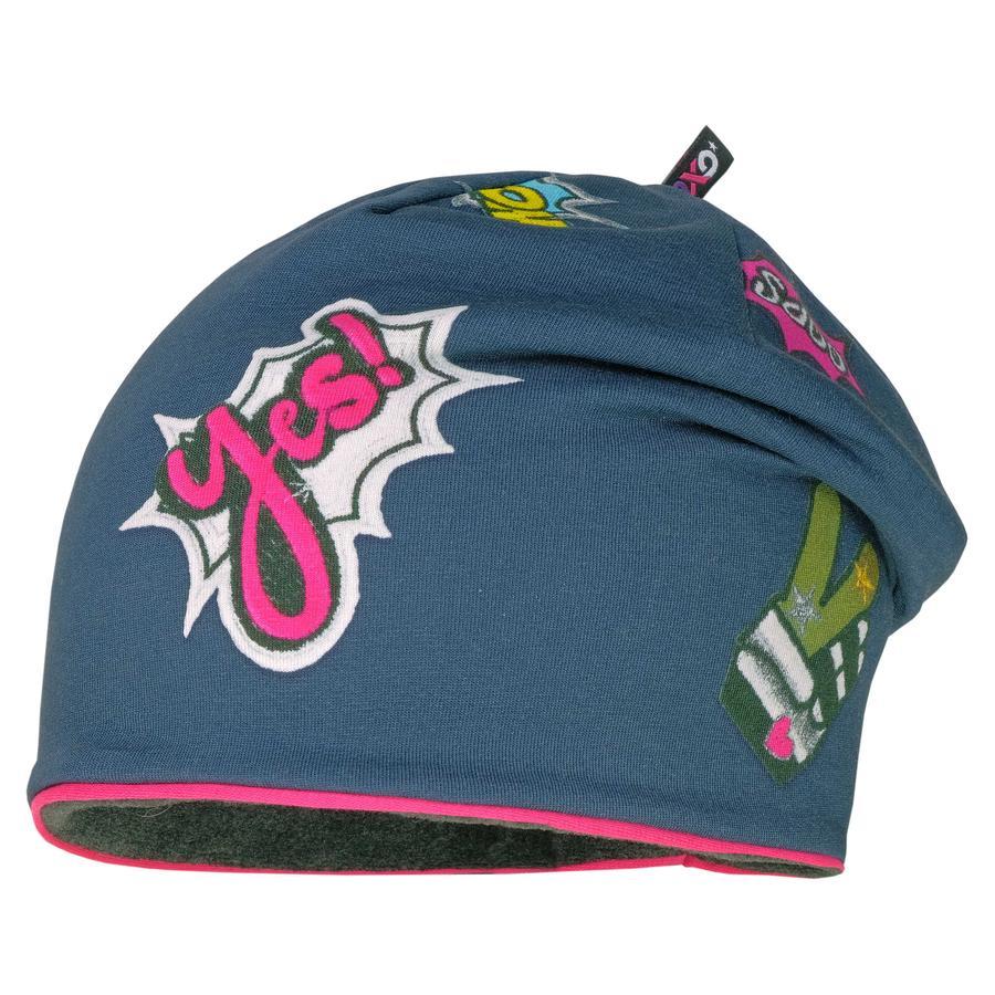 maximo Girls Beanie graphitblau-pink
