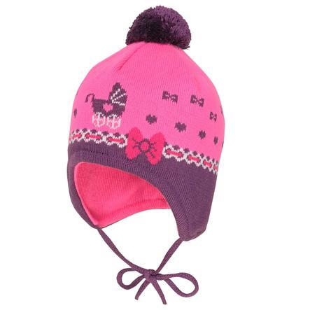 maximo Girls Mütze Puppenwagen fandango pink-dark pink