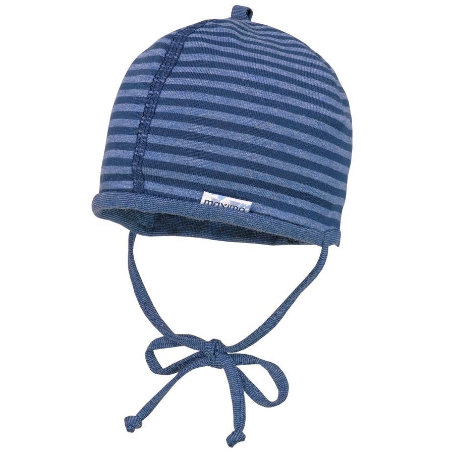 maximo Chlapecká čepice pruhovaná marine -jeansmelange