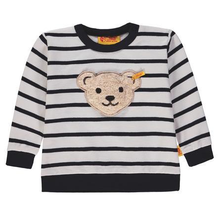Steiff Boys Sweater, wit/zwart gestreept, wit/zwart gestreept