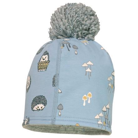 maximo Boys Beanie Mushroom Mushroom Hedgehog blu-grigio-bianco
