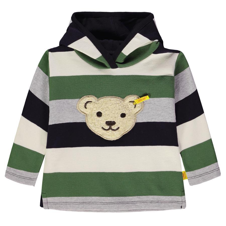 Steiff Boys Sweatshirt mit Kapuze, gestreift