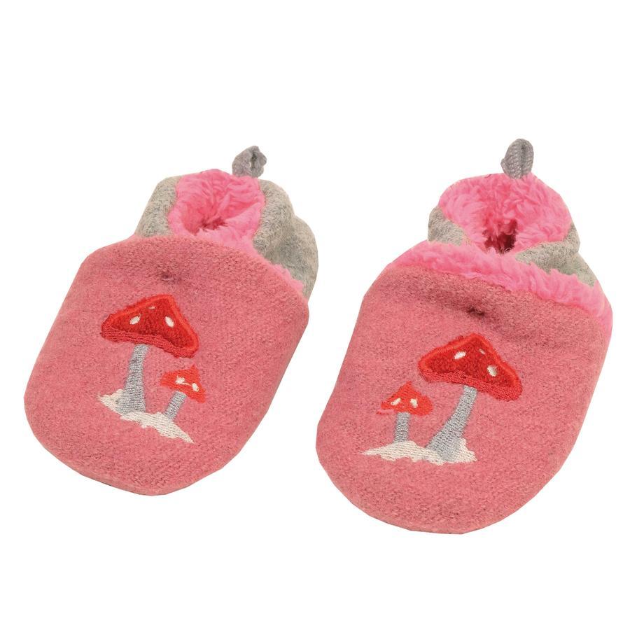 maximo Bebé bebé caminar zapato de hongo del desierto rosa / graumel.