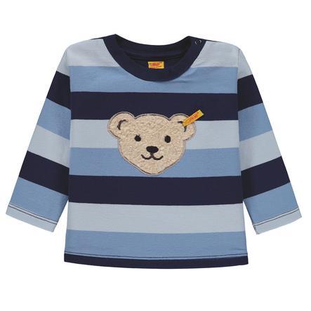 Steiff Boys Sweatshirt, Blockstreifen blau