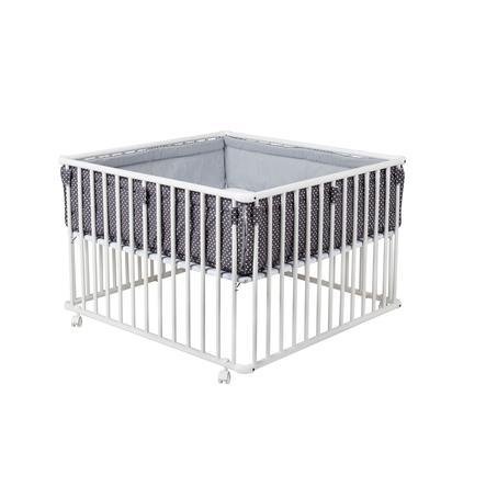 Schardt Laufgitter Basic weiß 100 x 100 cm mit Einlage Sterne grau