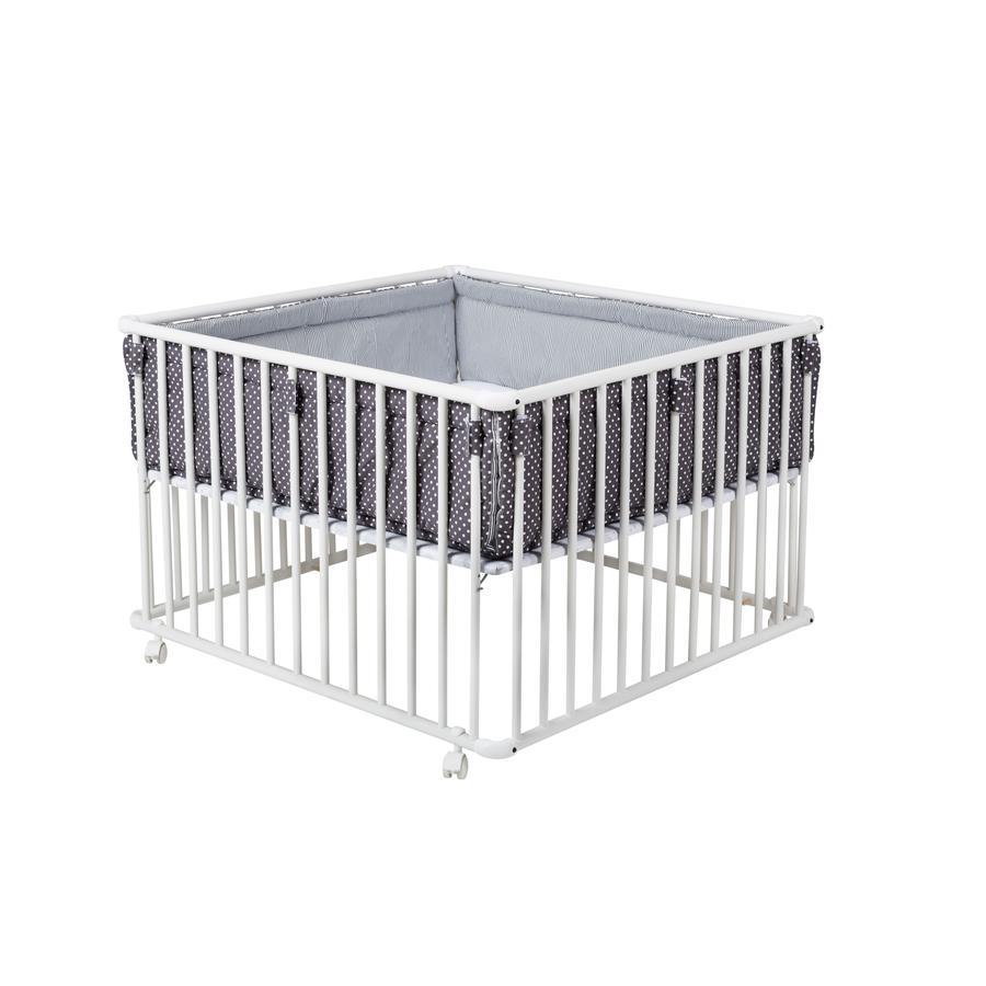 schardt Box Basic, bianco 100 x 100, con inserto, Stelle grigio