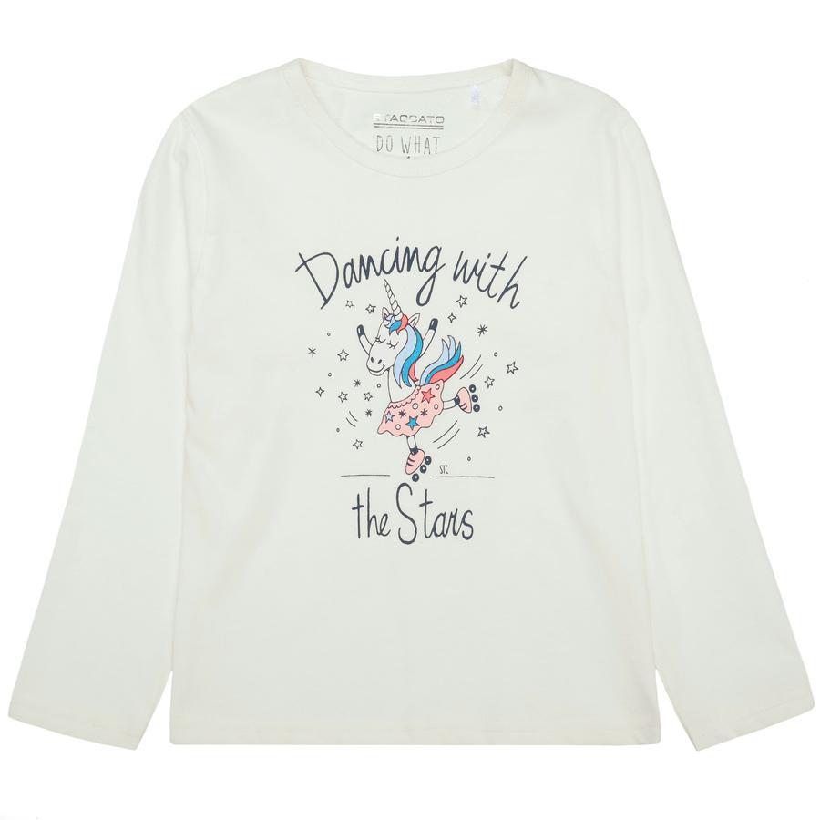 STACCATO Girl koszula z długim rękawem z białym rękawem.
