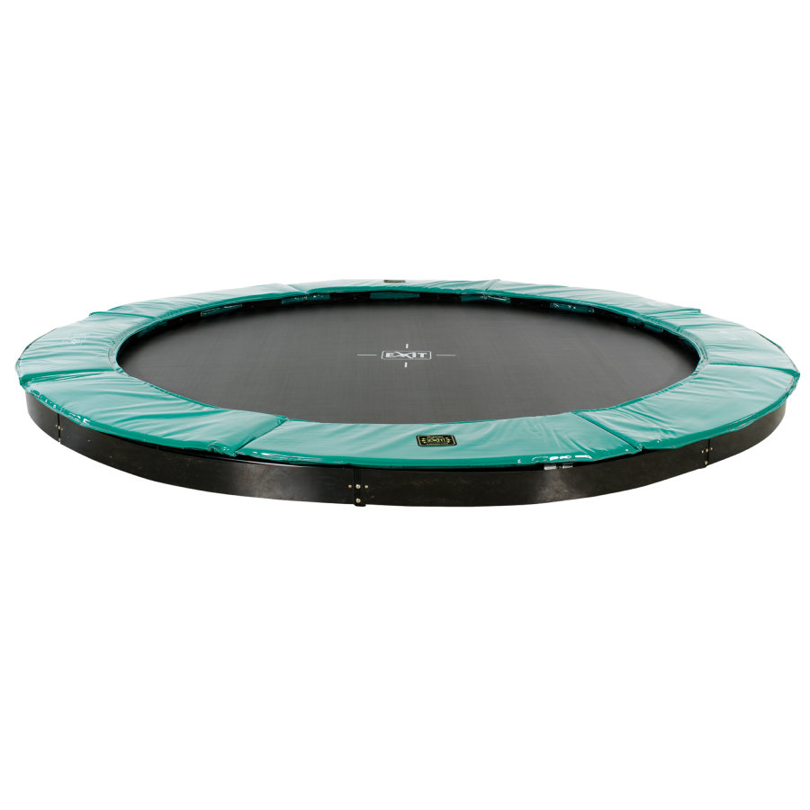 EXIT nedgravet trampolin Supreme Ø366 cm - grøn