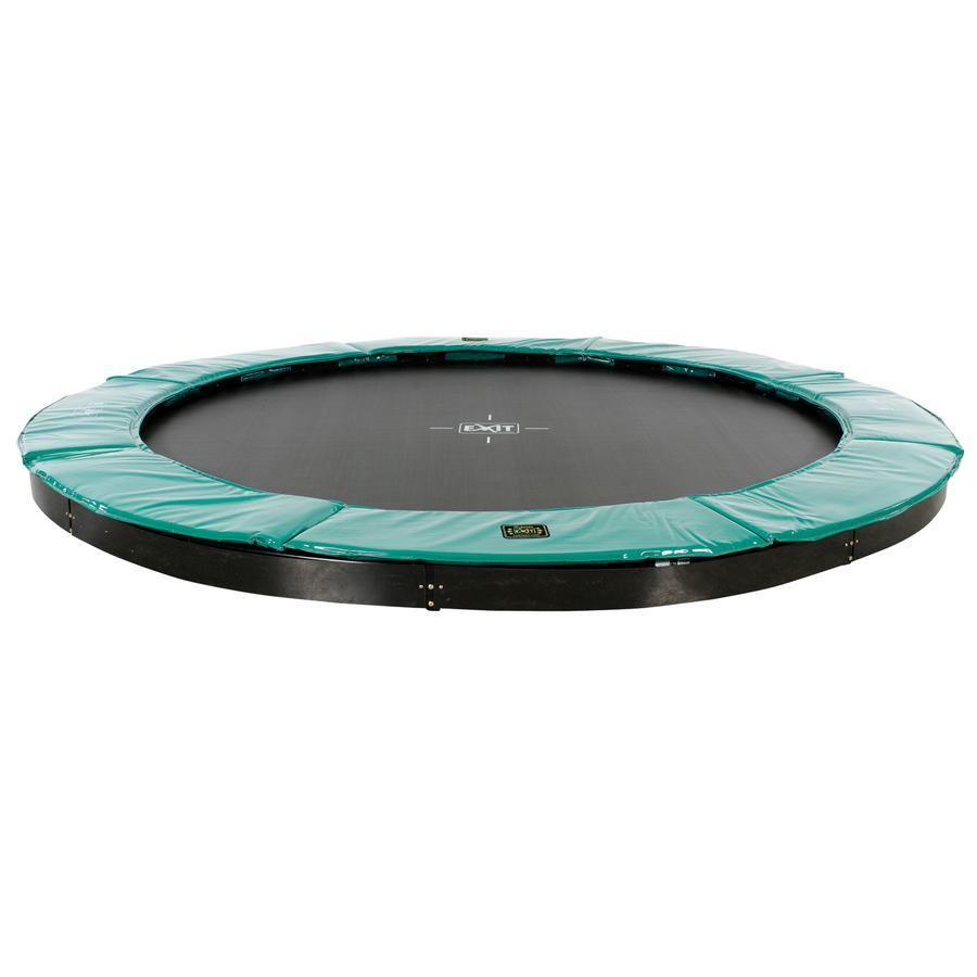 EXIT Supreme groundlevel trampoline ø366cm - groen