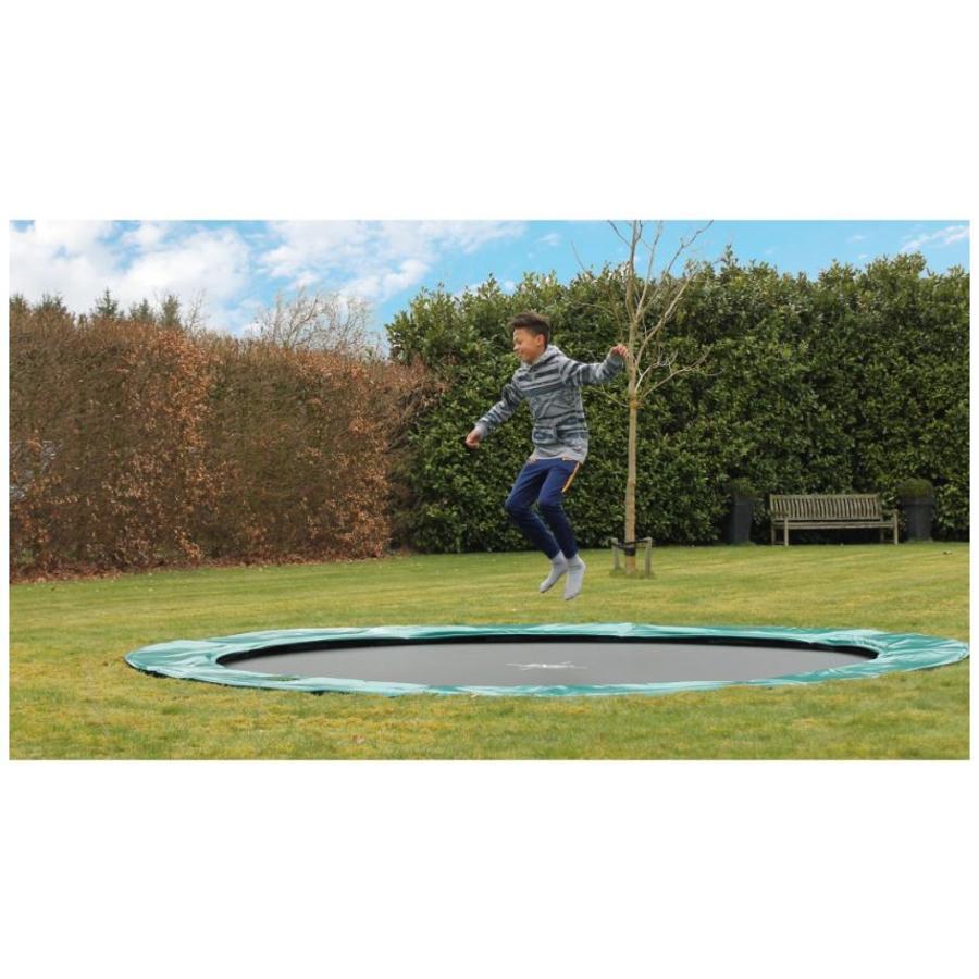 EXIT Supreme groundlevel trampoline ø305cm - grijs
