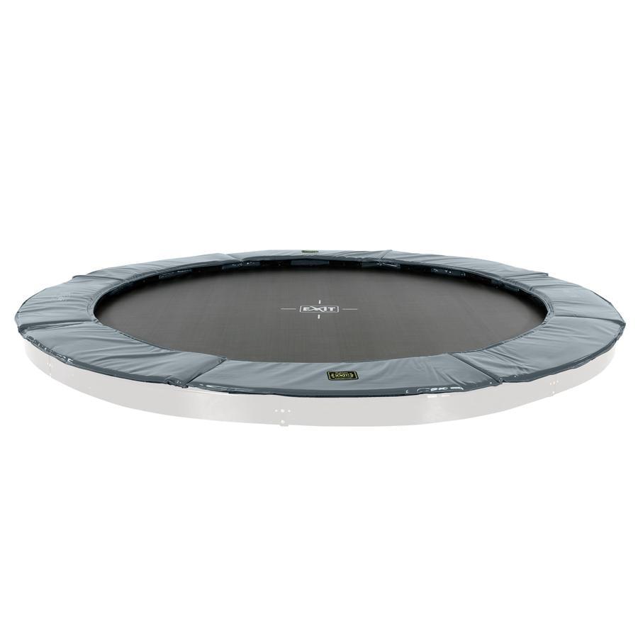 EXIT Supreme groundlevel trampoline ø366cm - grijs