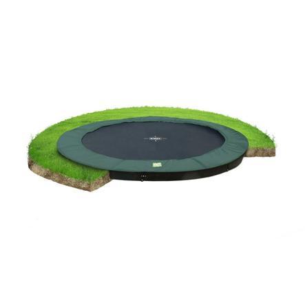 EXIT ebenerdiges Trampolin InTerra ø305cm - grün