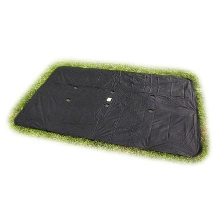 EXIT Bâche pour trampoline de sol rectangulaire 214x366 cm noire