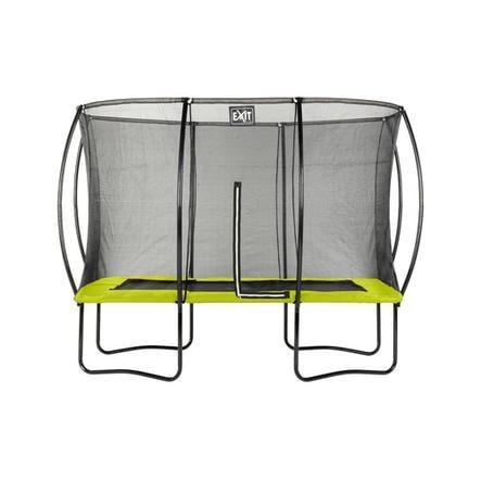 EXIT silhouette trampolino rettangolare cm 244x366 rettangolare cm - verde