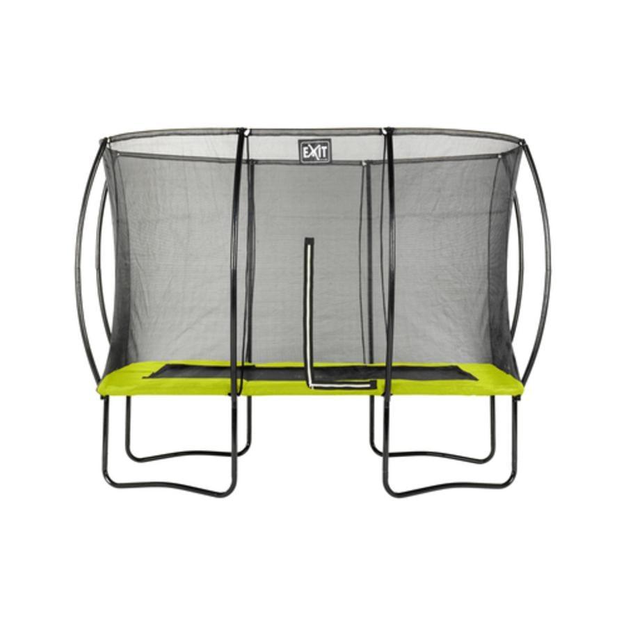 Sylwetka trampoliny EXIT prostokątna 244x366 cm - zielona
