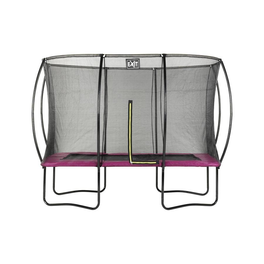 EXIT Trampolina Silhouette Kwadratowa 214x305 cm - pink