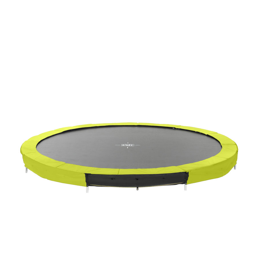 EXIT nedgravet trampolin silhouet Ø 366cm - grøn