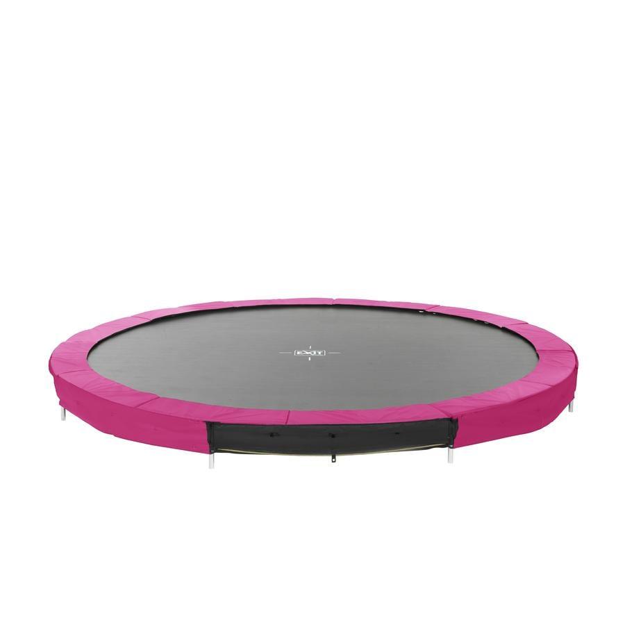 EXIT nedgravet trampolin Silhuet Ø 366cm - rosa