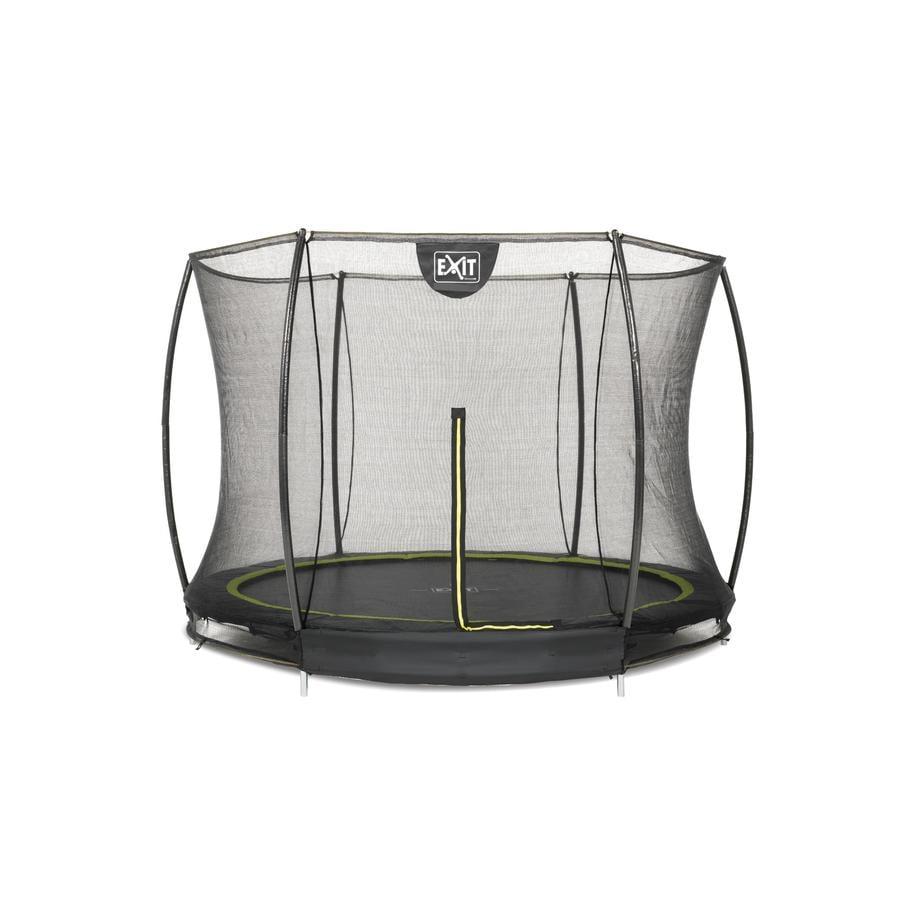 EXIT Silhouette inground trampoline ø305cm met veiligheidsnet - zwart