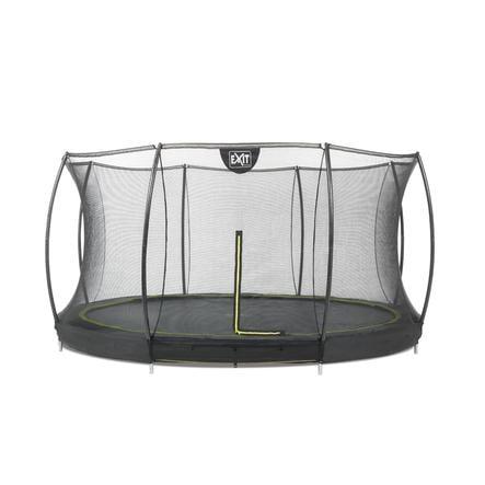 EXIT Cama elástica Silhouette  ø366 cm con red de seguridad - negro