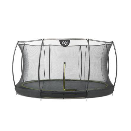 EXIT Silhouette inground trampoline ø366cm met veiligheidsnet - zwart