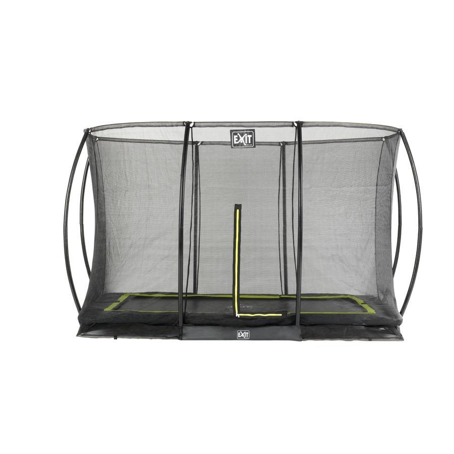 EXIT Trampolína Silhouette čtvercová  244 x 366 cm s bezpečnostní sítí - černá