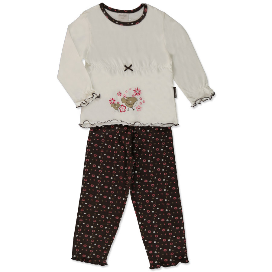 MOONLINE Girls Mini Schlafanzug LOTTA offwhite