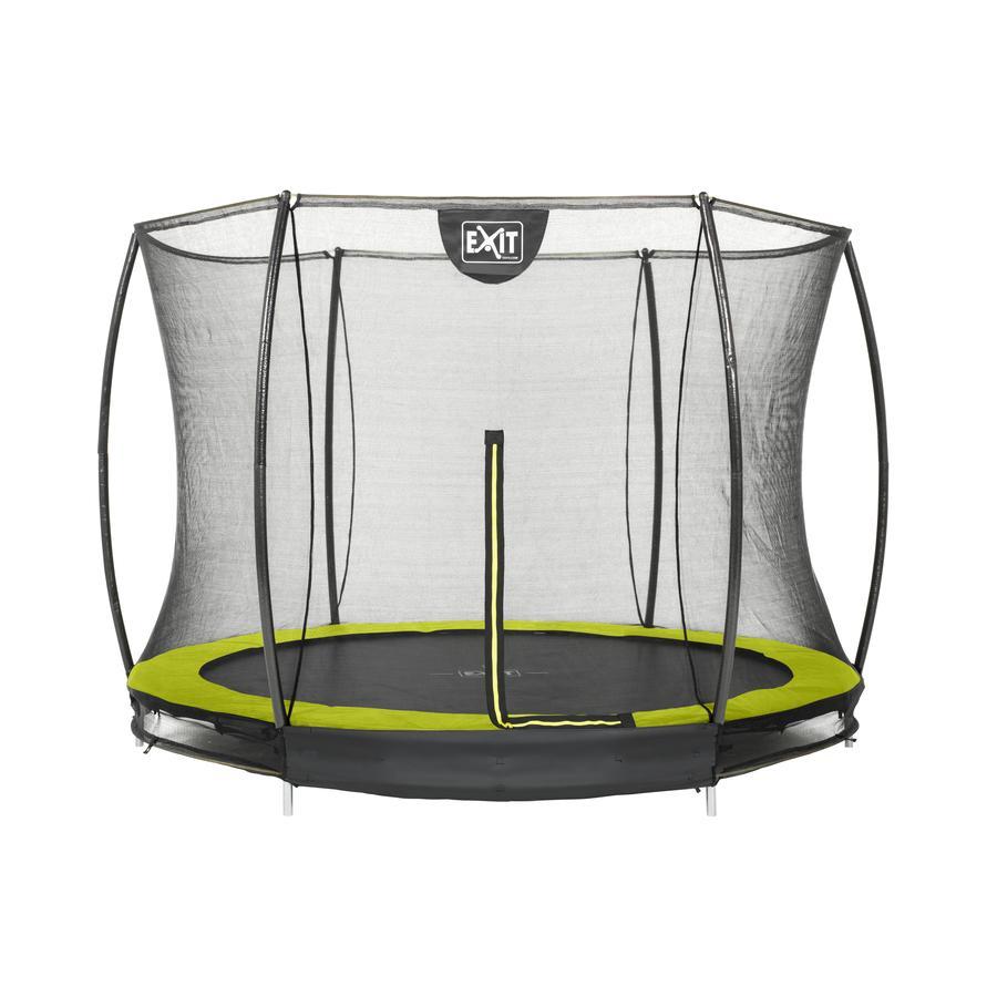 EXIT Silhouette inground trampoline ø244cm met veiligheidsnet - groen