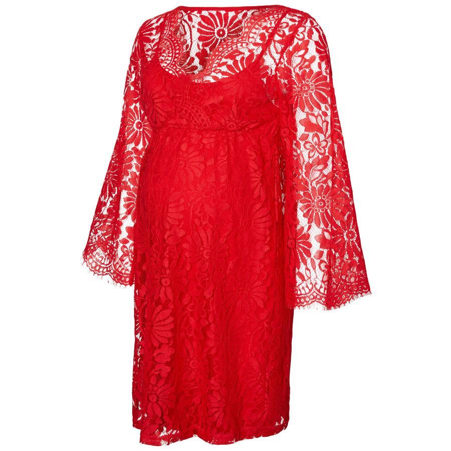 mama licious Robe de maternité MLNEVIA rouge chinois