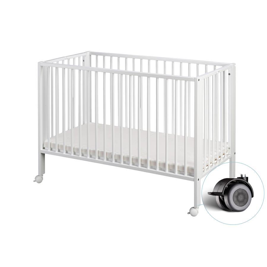 tiSsi® Lit enfant à barreaux 60x120 cm blanc, bois