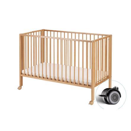 tiSsi® Lit enfant à barreaux 60x120 cm naturel, bois