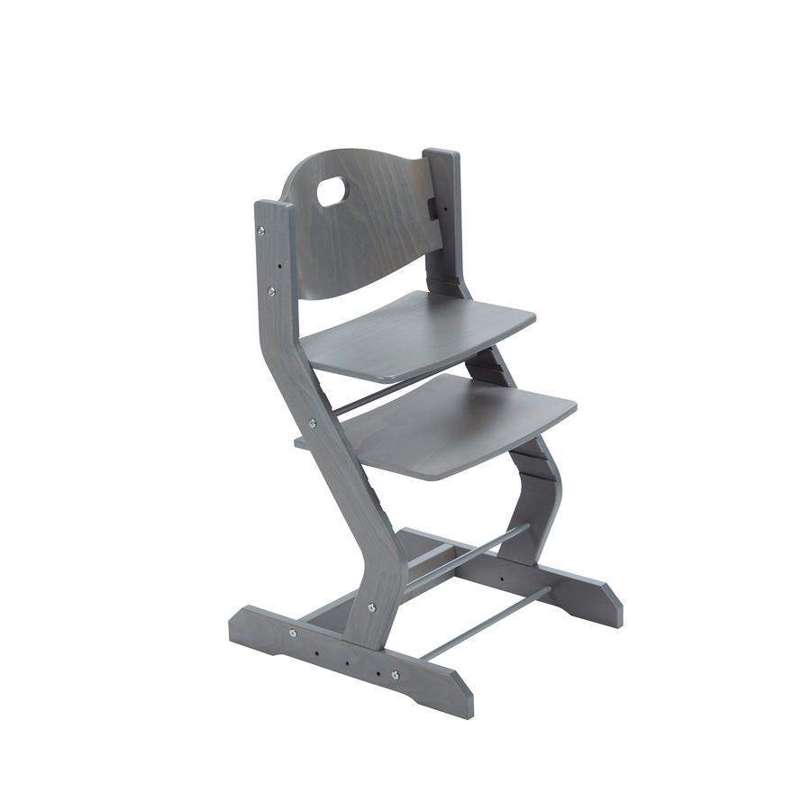 tiSsi® Chaise haute bébé gris, bois