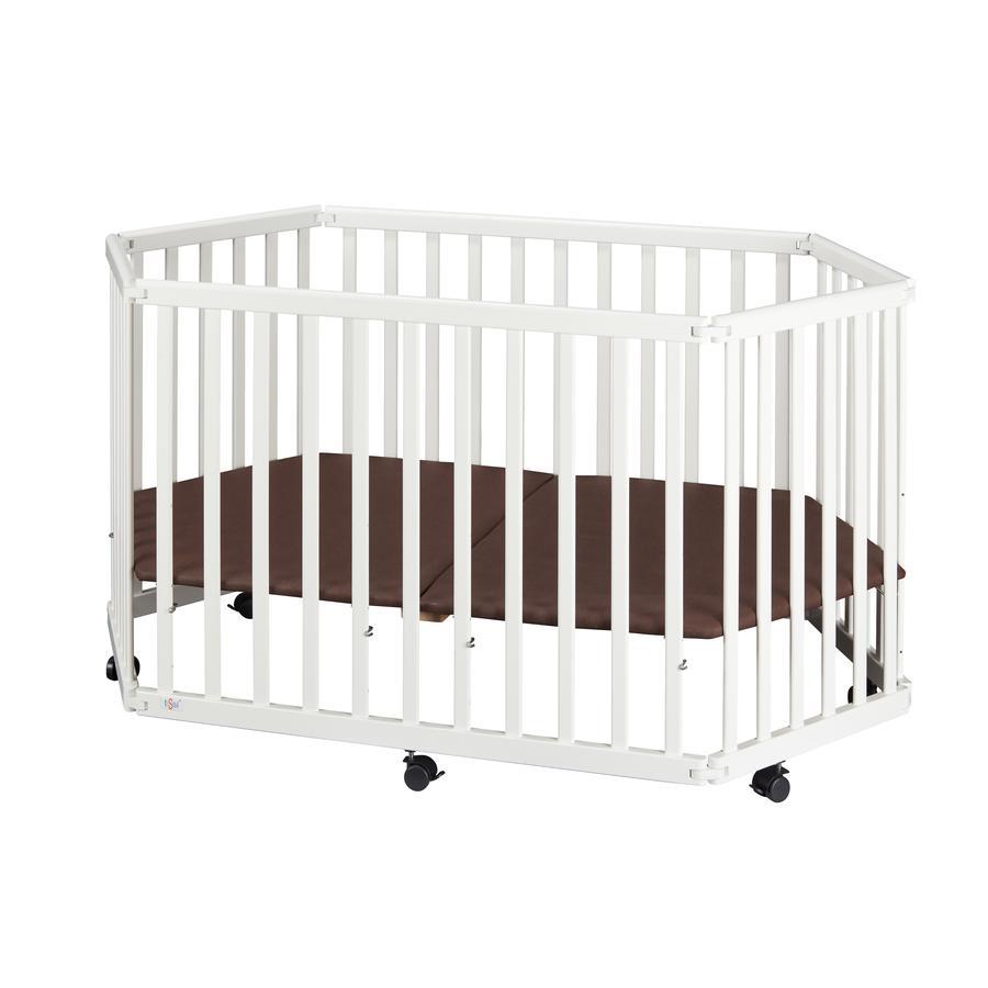 tiSsi® Parc bébé blanc, bois