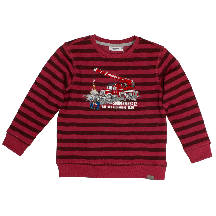 SALT AND PEPPER Boys Sweatshirt chili red melange