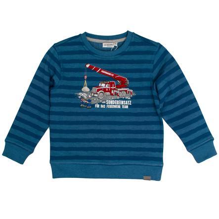 SALT AND PEPPER Boys Sweat-shirt melange bleu hollandais