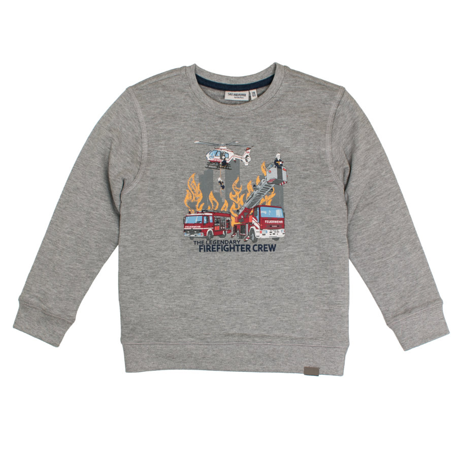 SALT AND PEPPER Boys Sweatshirt Rescue Rescue grijs melange