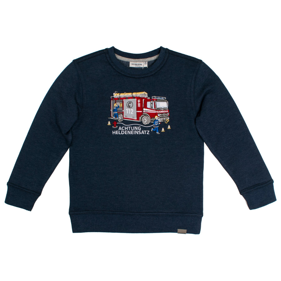 SALT AND PEPPER Boys Sweatshirt Rescue dark blue melange
